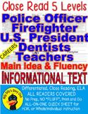 5 Passages 5 levels Police Officer Firefighter President Dentist Teacher V.1
