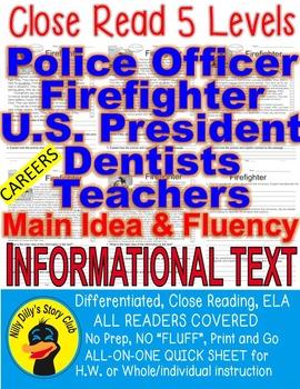 5 Passages 5 levels Police Officer Firefighter President D