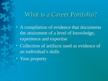 Career Portfolio Presentation