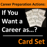 Career Preparation Actions Card Set / Group Activity - Free