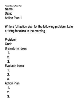 Career Problem Solving Worksheets