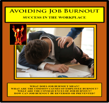 Career Readiness - Employment - AVOIDING JOB BURNOUT - Careers