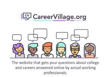 Career Readiness - Getting Started with CareerVillage.org