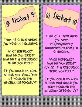 Career Readiness Task Cards: Take a Ticket