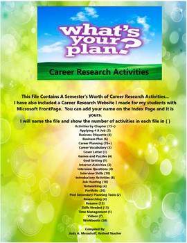 Career Research Teacher Supplemental Resources Fun Engaging