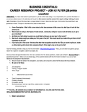 Career Research Job Ad Flyer Assignment
