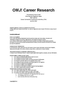 Career Research: Ohio Means Jobs K-12 NEWLY UPDATED!