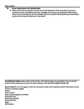 Career Research Paper Bundle