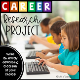 Career Research Project with Printable Books and Articles