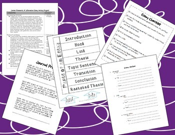 Career Research and Essay Writing BUNDLE