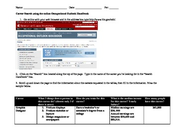 Career Search with the Online Occupational Outlook Handbook Updated
