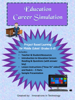 """Career Simulation:  Education and Training """"How To"""" Video (Exploring Careers)"""