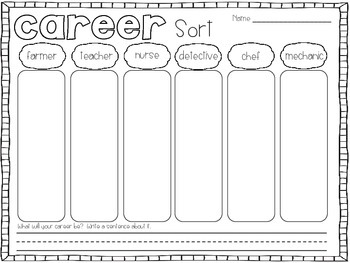 Career Sort - A First Grade Literacy Center