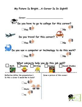 Career Speaker Graphic Organizer - K & 1st