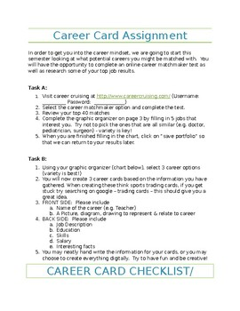 Career Trading Card Activity