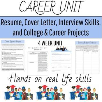 Career Unit Bundle--Resume, Interview, Cover Letter, Career Research and More!