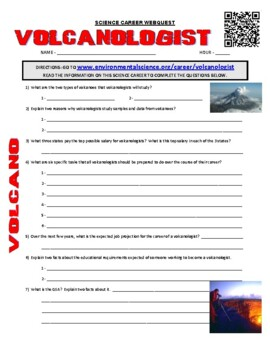 Career Webquest - Volcanologist & Seismologist (volcano / earthquakes)