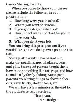 Career Week with Parents