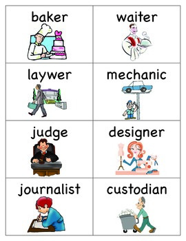 Career Word Cards