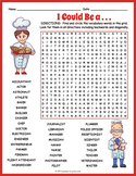 Career Word Search Puzzle Worksheet