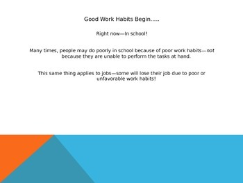Career and College Readiness-Good Work Habits