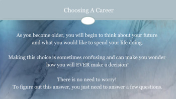 Career and College Readiness PowerPoint Guidance Lesson Intermediate-MS