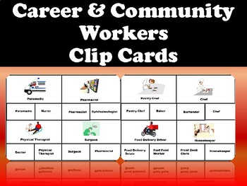 Career and Community Helpers Clip Cards