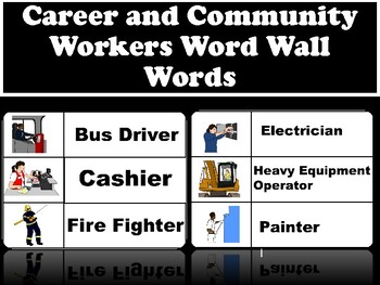 Career and Community Helpers Word Wall