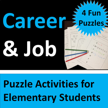 Career and Job Puzzle Activities for Elementary Students