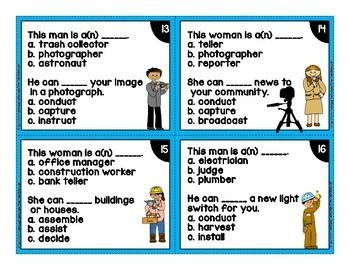 Career and Job Themed Vocabulary Task Cards