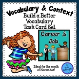 Career and Job Theme Vocabulary Task Cards