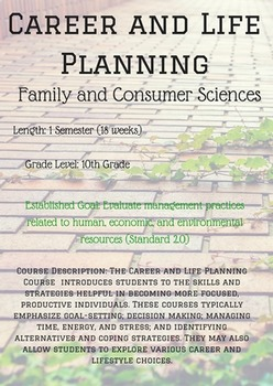 Career and Life Planning Course and Unit Outline