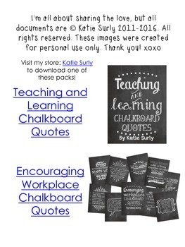 Free Chalkboard Quote Printable