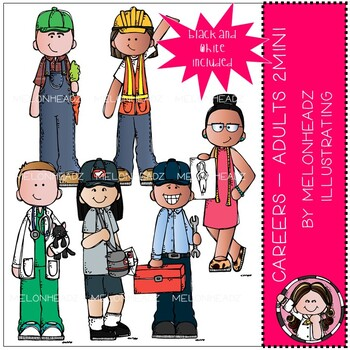 Career clip art - Adults - Mini - Set 2 - Melonheadz Clipart