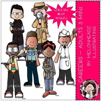Career clip art - Adults - Mini - Set 3 - Melonheadz Clipart