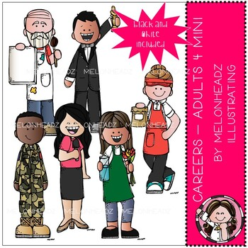 Career Clip Art Adults Mini Set 4 By Melonheadz Clipart By Melonheadz