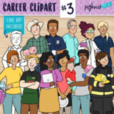 Career clipart set 3 with community helpers