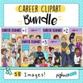 Career clipart bundle of 58 community helper images