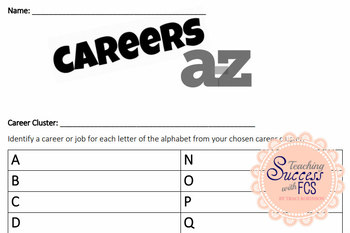 Careers A to Z Worksheet