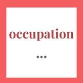Careers Bingo--Word Wall Vocabulary Printables