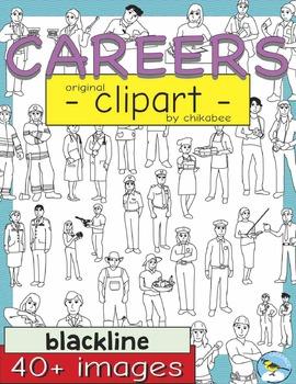 Careers Clip Art (BLACKLINE ONLY)