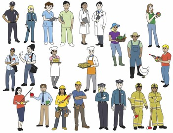 Careers Clip Art (COLOR ONLY)
