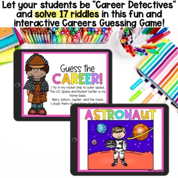 Careers/Community Helpers Guessing Game & Mini Coloring Book!