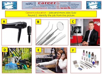 Careers Education Quiz (Jobs & Jobs Quiz) - 7 rounds and 40+Qs