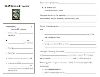 Careers & Finance note page (CE.14)