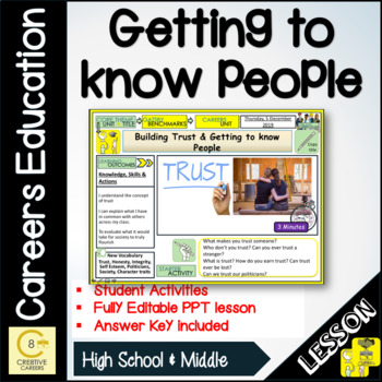 Careers Getting To Know People Lesson and Activities