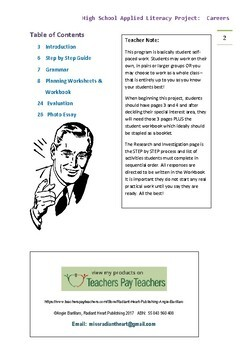 Careers High School Literacy Project
