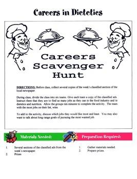 Careers In Dietetics Game / Activity