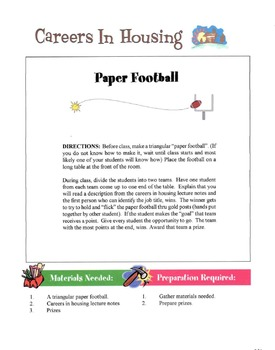 Careers In Housing Lesson