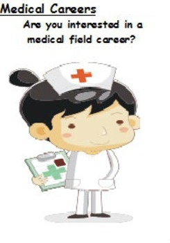 Careers, Medical - Wordsearch